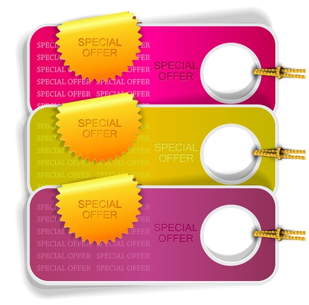 buono sconto: Set di bolle, adesivi, etichette, illustrazione vettoriale tag