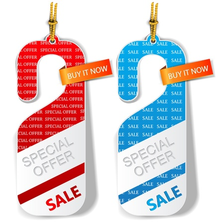 door tags: Door tags, labels  Special offer   Vector Illustration