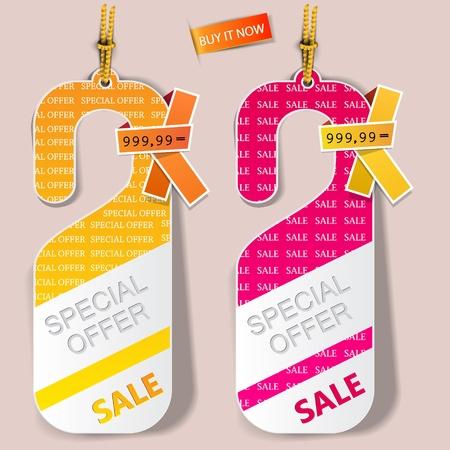 offerta speciale: Porta etichette, etichette vettore Offerta speciale
