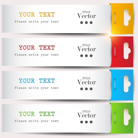 place for text: Colorful bookmarks with place for text Illustration