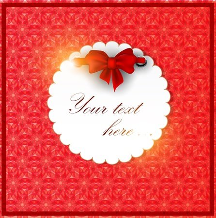 White invitation on red background Vector