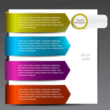 flechas curvas: Marcadores de colores para las flechas de voz de papel de colores Vectores