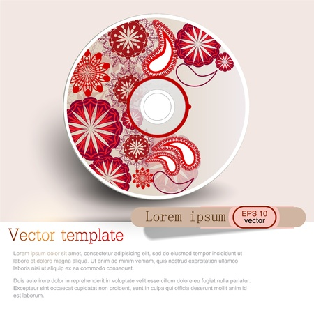 Cover design template of disk  Pattern Vector