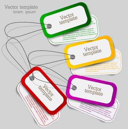 Set of bubbles, stickers, labels, tags  Vector template Vector