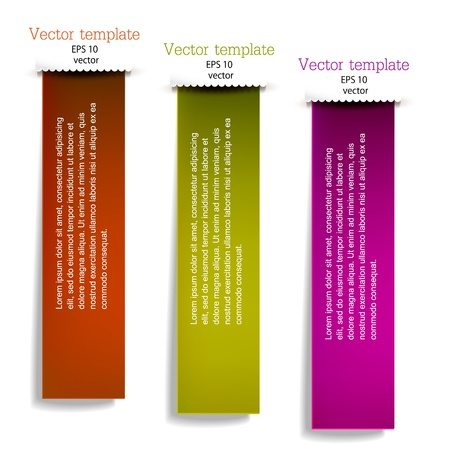 Colorful bookmarks for text  Vector set Vector