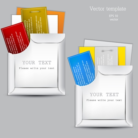 Paper sheets with envelopes for text Vector