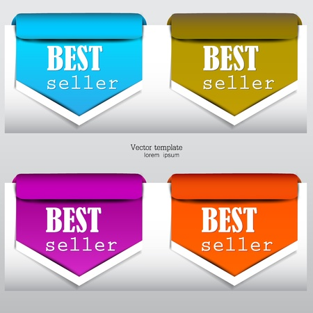Colorful arrows and bookmarks  bestseller  Stock Vector - 13542245
