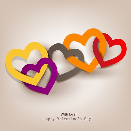paper chain: Gift card  Valentine Illustration