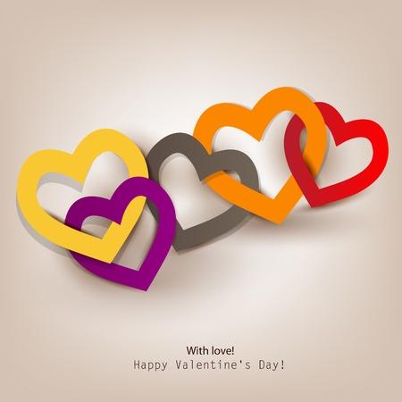 cadenas: Tarjeta de regalo de San Valent�n Vectores