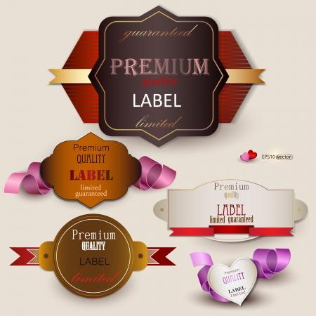zufriedenheitsgarantie: Set von h�chster Qualit�t und Zufriedenheitsgarantie Badges, Labels, Tags Retro Vintage-Stil