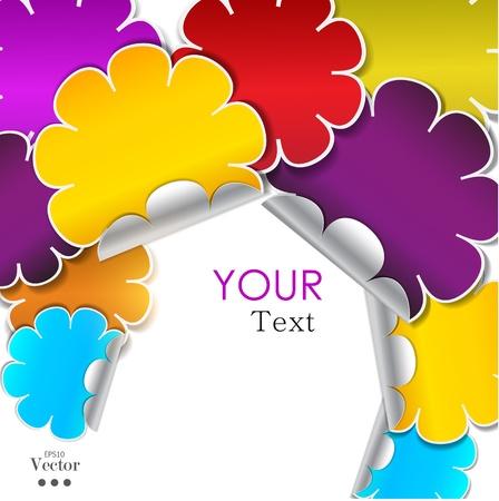 place for text: Color de fondo a partir de pegatinas con el lugar de texto