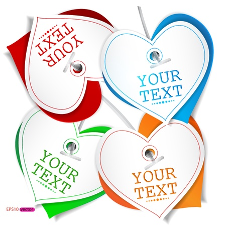 Set of bubbles, stickers, labels, tags Stock Vector - 13735557