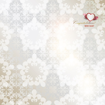 wedding gift: Elegant background with white repetitive elements