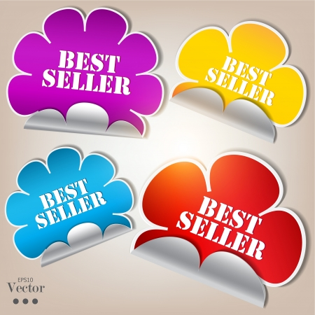 Colorful stickers and bubbles for speech Vector