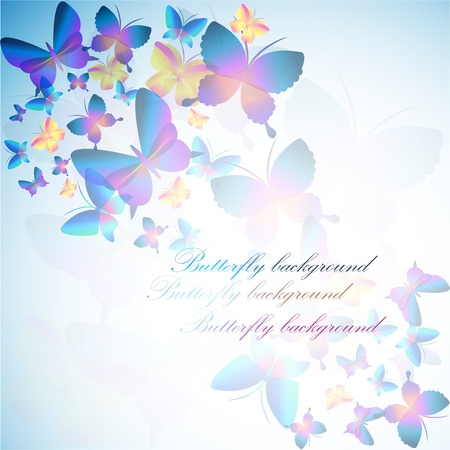 papillon rose: Colorful background with butterfly Illustration
