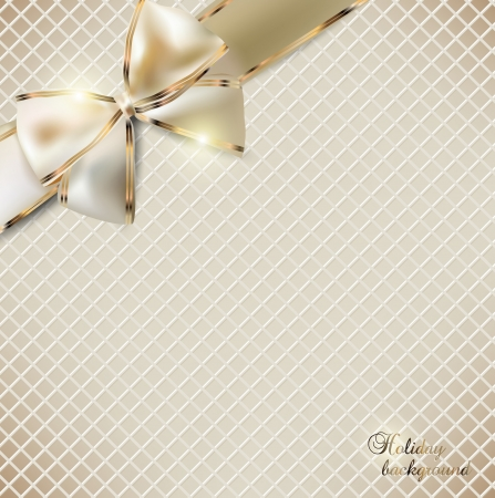 gift wrap: Holiday banner with ribbons  Vector background  Illustration