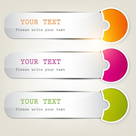 Colorful bookmarks for text  Vector