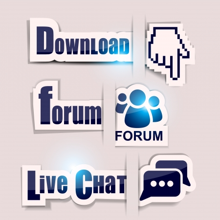 get help: Paper website elements   Download ,  Forum ,  Live Chat  Illustration