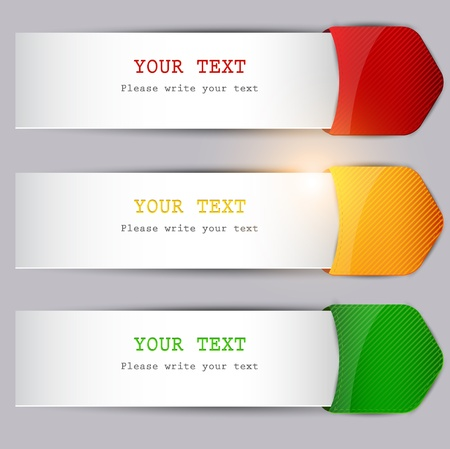 Colorful bookmarks with place for text Illustration