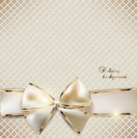 navidad elegante: Holiday banner con fondo Vector cintas