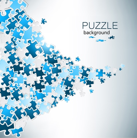 puzzle background: Abstract background made from puzzle pieces