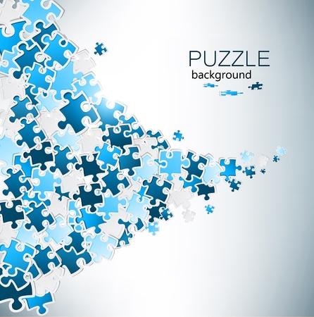 piezas de puzzle: Fondo abstracto hecho de pedazos del rompecabezas Vectores