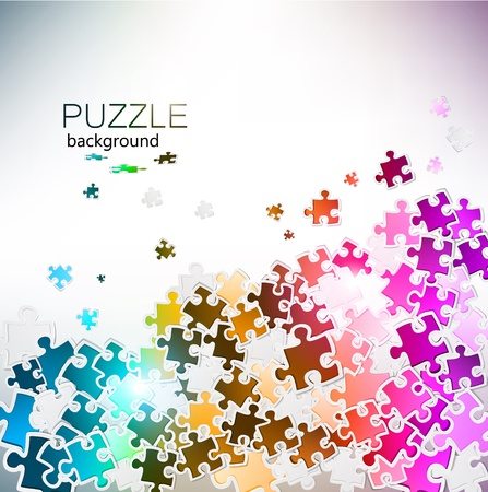 challenges: Abstract background made from puzzle pieces