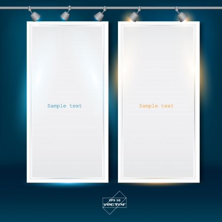 Empty banner for product advertising with lighting Stock Vector - 14960266