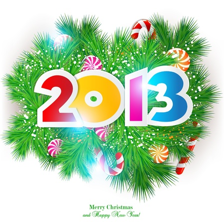 Happy new year 2013. Vector design element. Vector