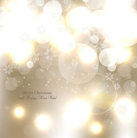 cold background: Elegante sfondo Natale con fiocchi di neve e il luogo per il testo. Illustrazione Vettoriale.
