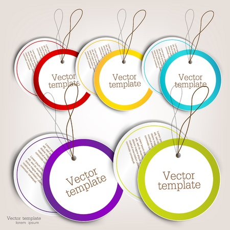 Set of bubbles, stickers, labels, tags. Vector template Vector