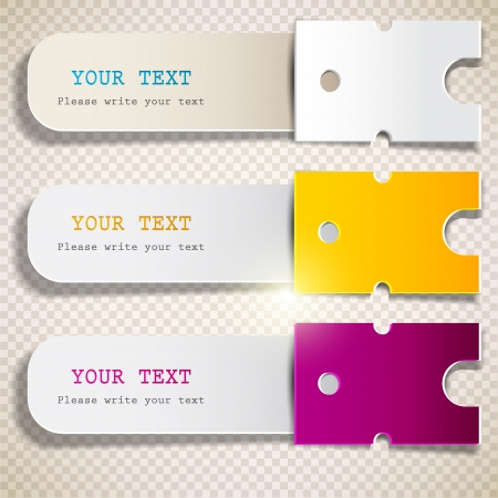 colorful sticker: Colorful bookmarks with place for text Illustration