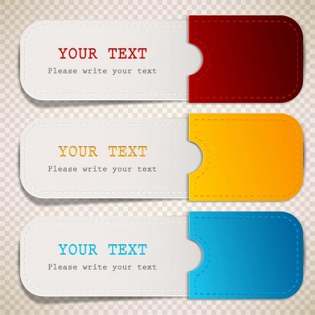 autocollant: Signets color�s avec place pour texte Illustration