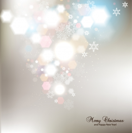 christmas cover: Elegant Christmas background with snowflakes and place for text  Vector Illustration