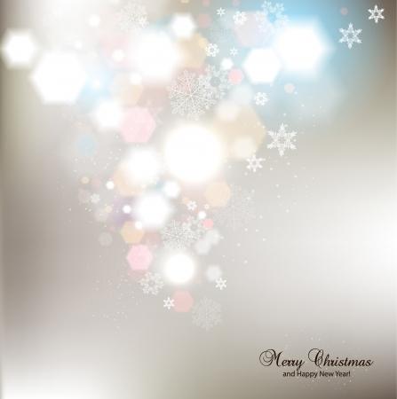navidad elegante: Elegante fondo de Navidad con copos de nieve y lugar para el texto Ilustraci�n vectorial
