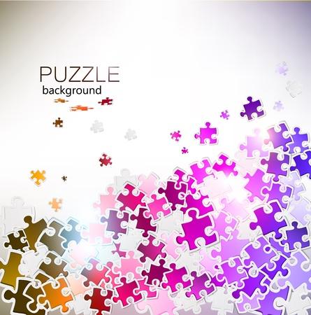 Abstract background fabriqu�s � partir de pi�ces de puzzle