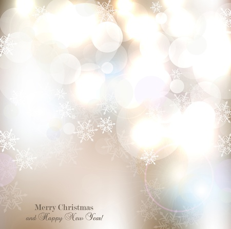 Elegant Christmas background with snowflakes and place for text  Vector Illustration