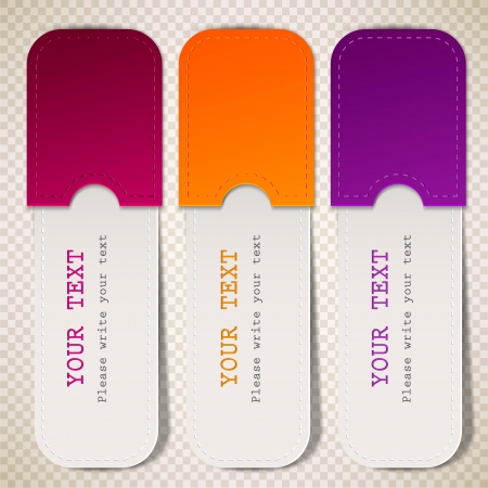 bubble sheet: Colorful bookmarks with place for text Illustration