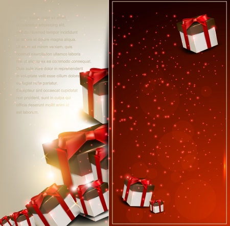 christmas flyer background: Elegance background with Christmas gifts
