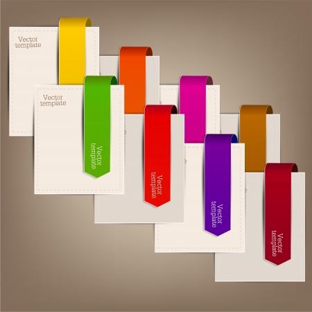 flechas curvas: Marcadores de colores y flechas para el texto Vectores