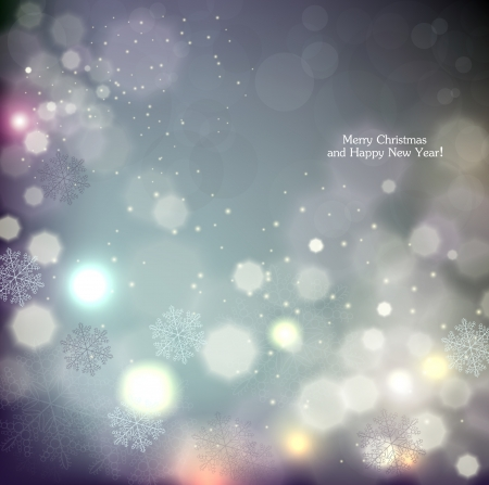 christmas backgrounds: Elegant Christmas background with snowflakes and place for text