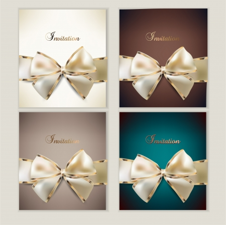 satin: Collection of gift cards with ribbons