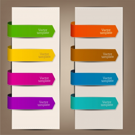 ribbon banner: Colorful bookmarks and arrows for text Illustration