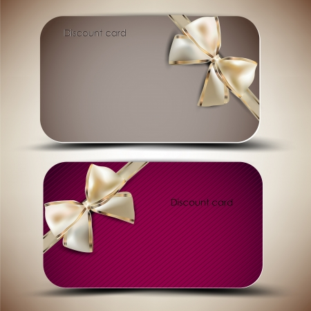 invitation background: Collection of gift cards with ribbons
