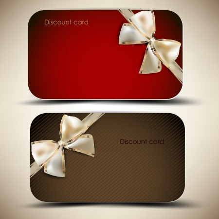 Collection of gift cards with ribbons