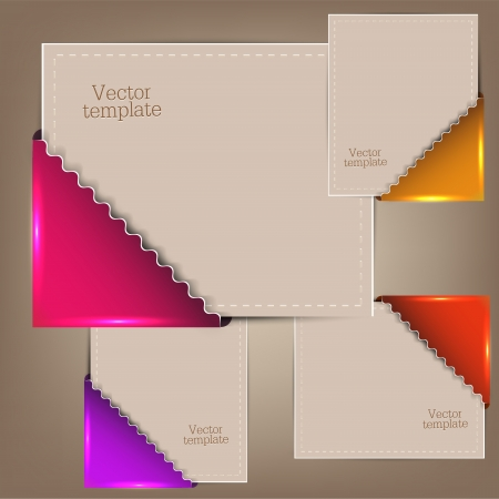 Colorful bookmarks and notes for text Vector