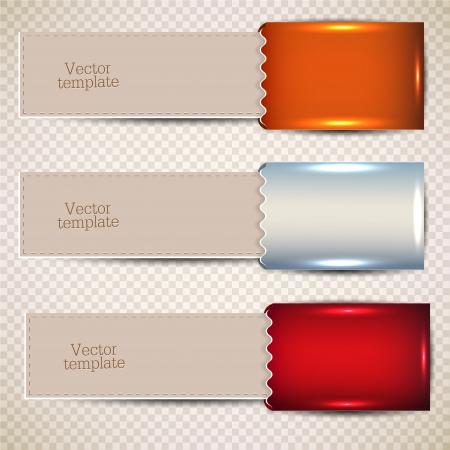 sobres de carta: Marcadores coloridos con el lugar para el texto