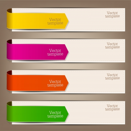 price tag: Colorful bookmarks and arrows for text Illustration