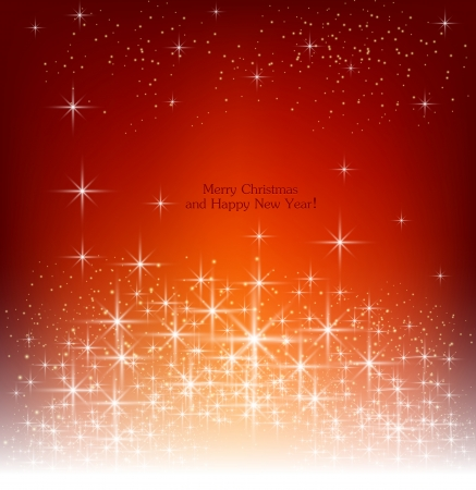 Red beautiful Christmas background  Vector
