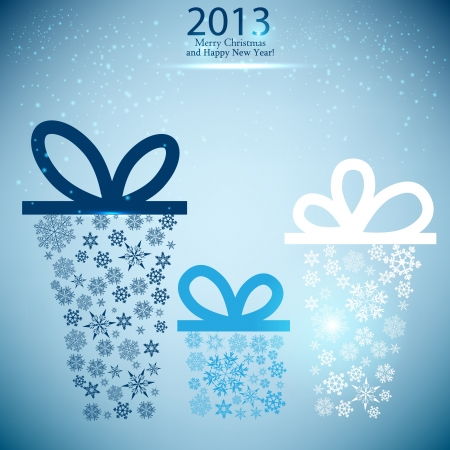 Christmas gift boxes made from snowflakes  Christmas background Stock Vector - 15351139